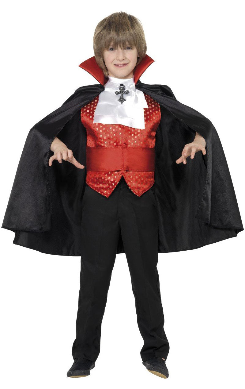 Kids Red Dracula Costume