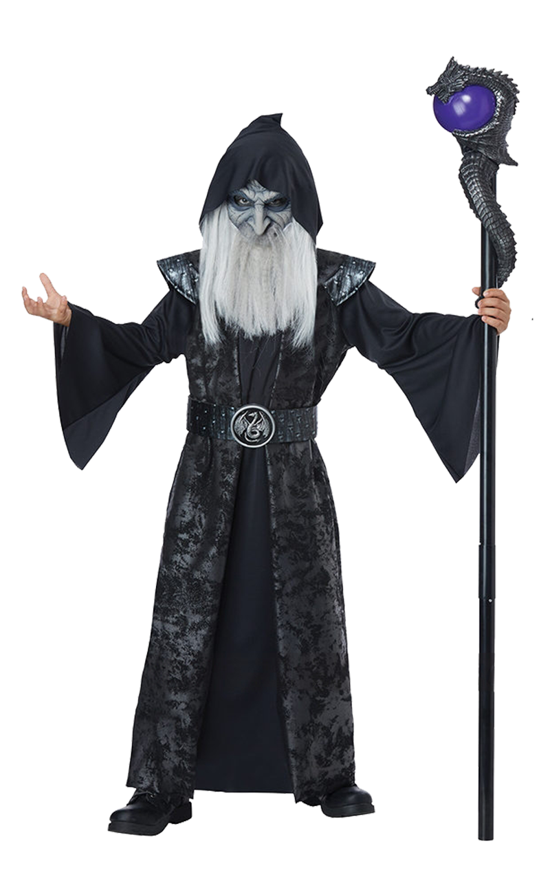 Kids Dark Arts Wizard Costume