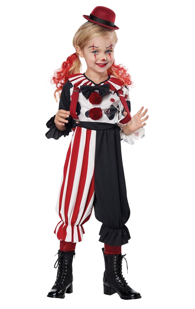 Kids Unisex Clown Costume