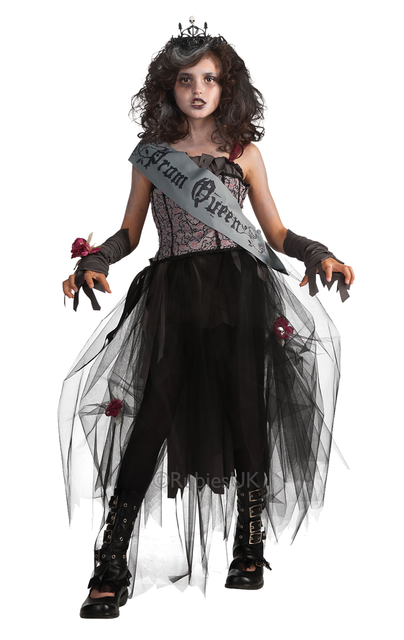 Kids Gothic Prom Queen Costume