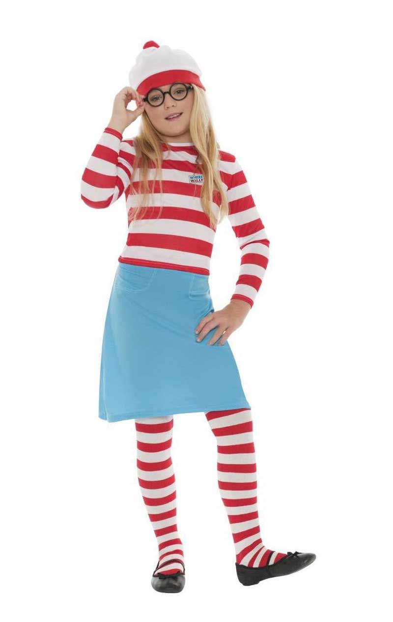 Kids Wheres Wally Wenda Costume
