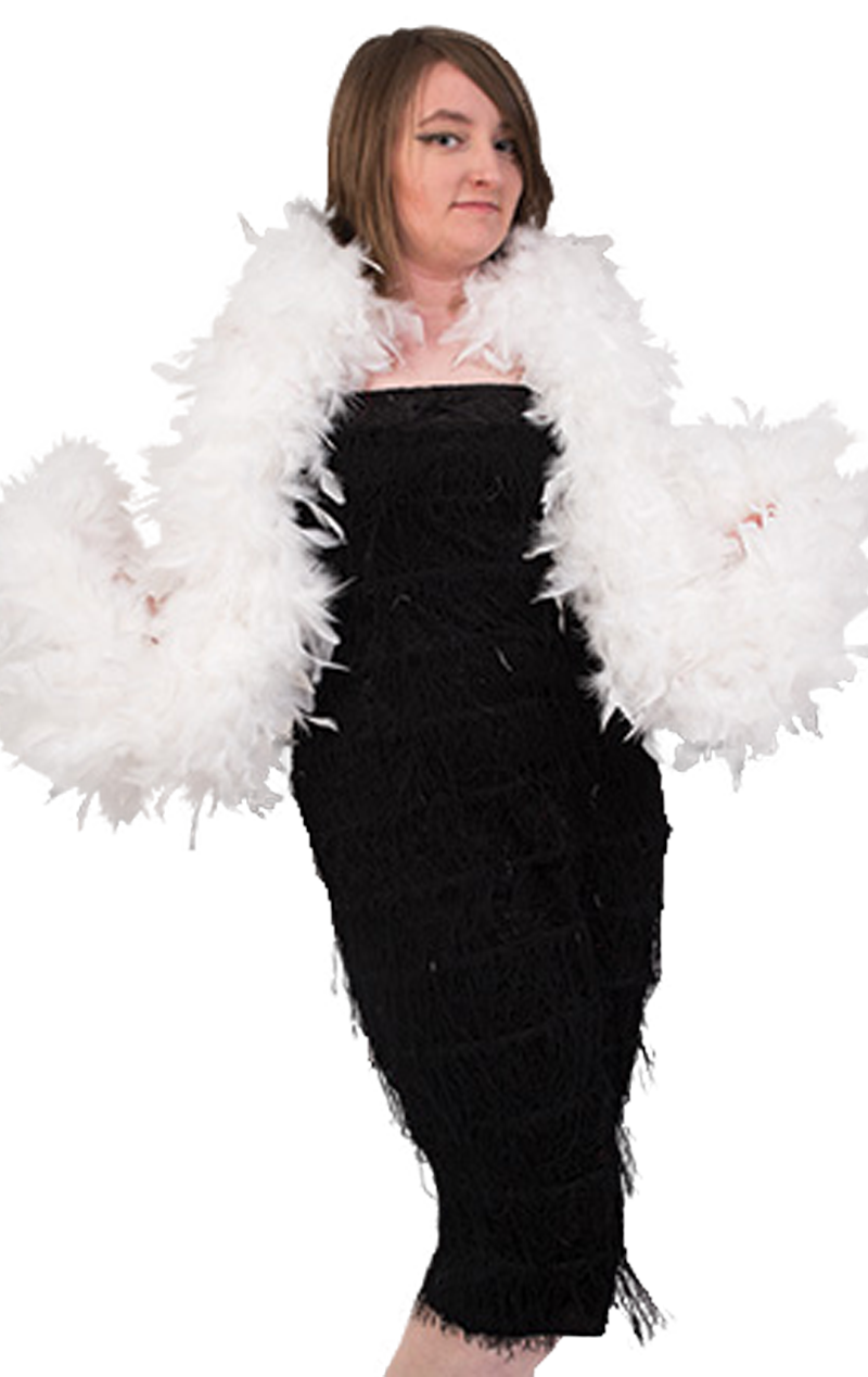 White Feather Boa Accessory