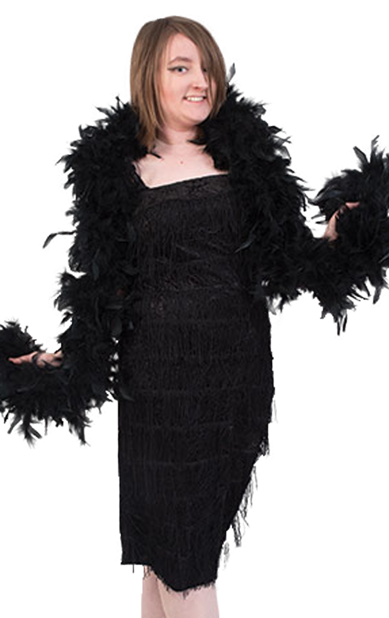Black Feather Boa Accessory