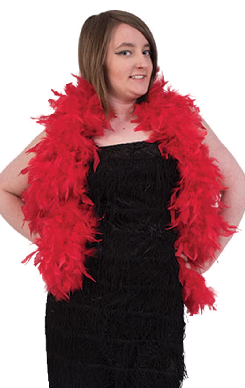 Red Feather Boa Accessory