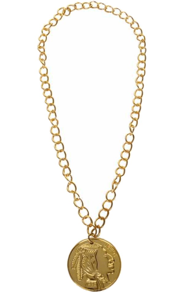 Gold Metal Medallion Accessory