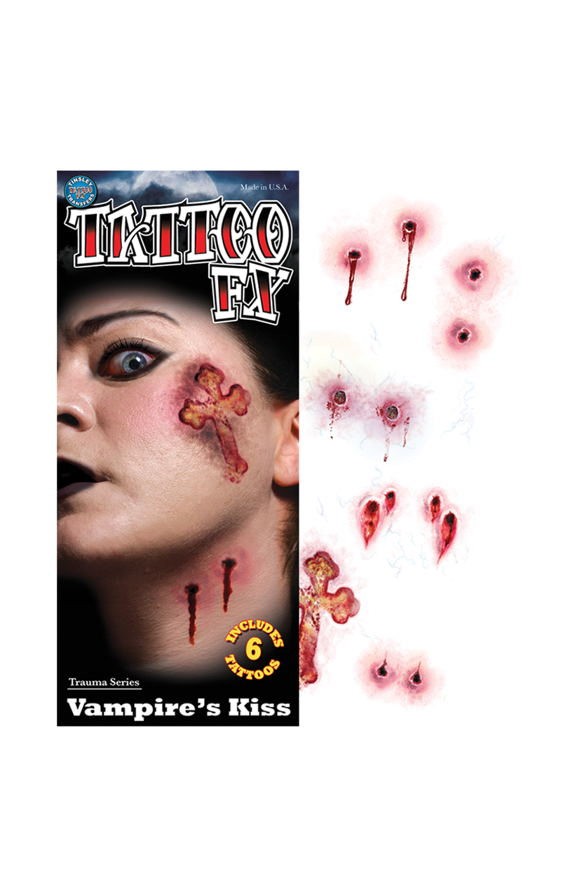 Vampire Kiss Temporary Tattoos