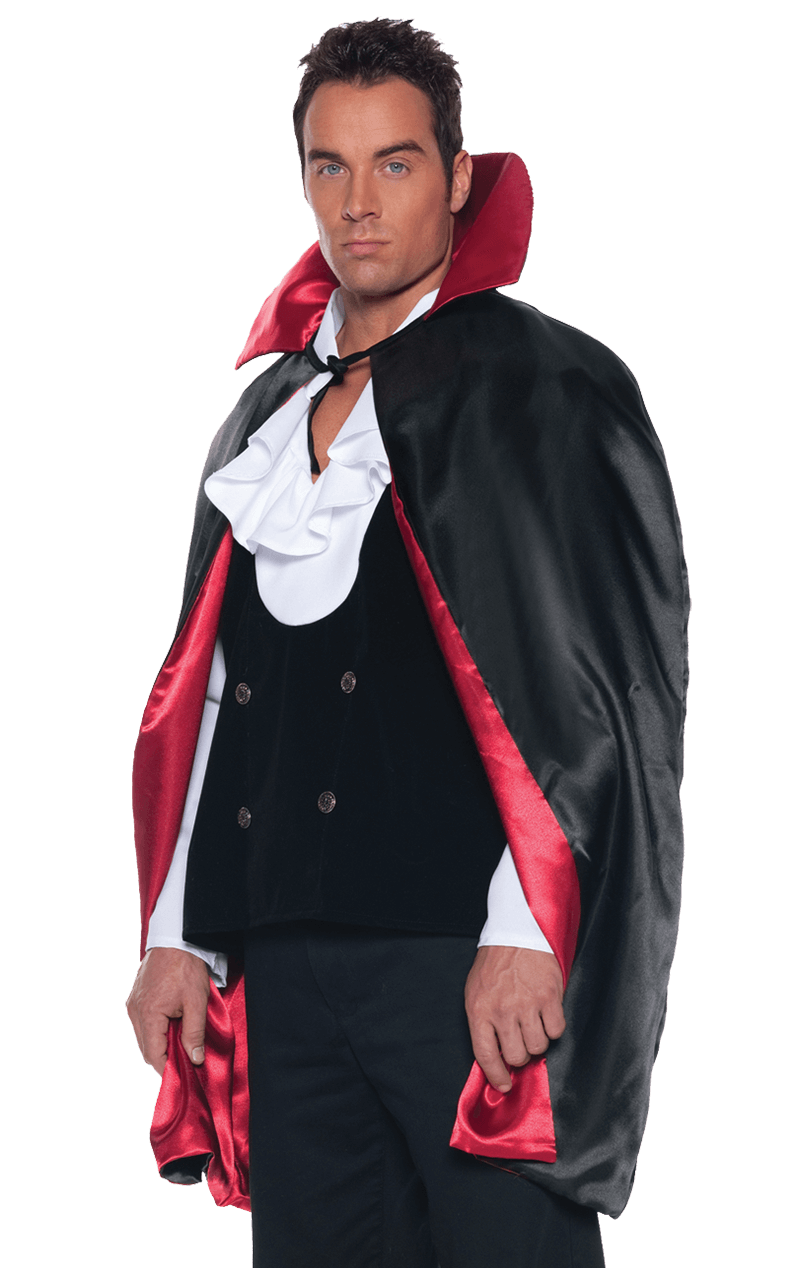 Reversible Black/Red Cape