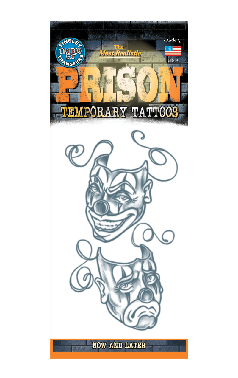 Facepieces Prison Tattoo Accessory