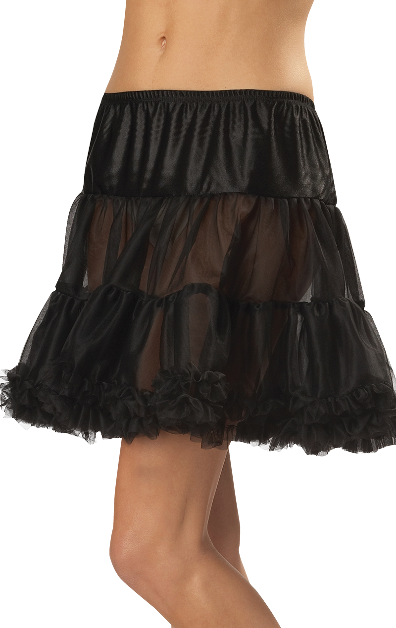 Ruffled Pettiskirt Black