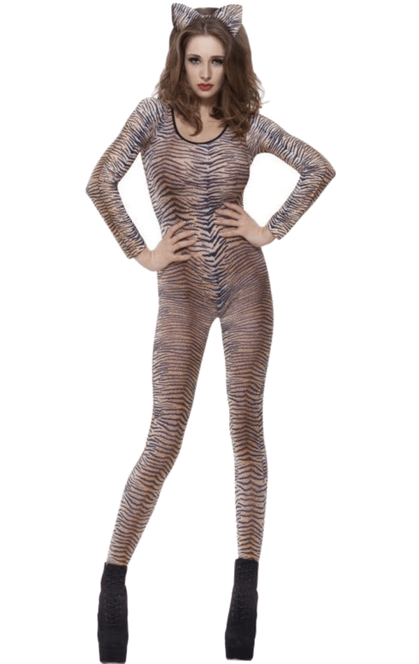 Tiger Print Bodysuit Costume