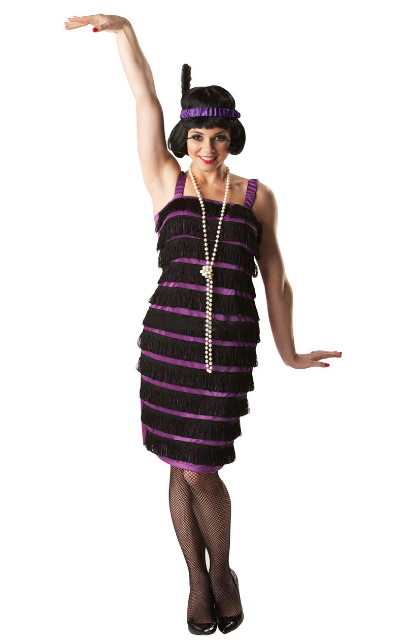 Purple & Black Flapper Costume