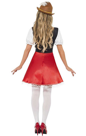 Womans Red Bavarian Costume
