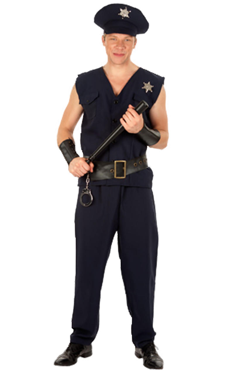Policeman and Cuffs Costume