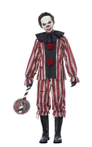 Mens Plus Size Nightmare Clown Costume