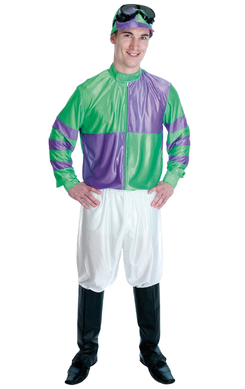 Jockey Green Purple Costume