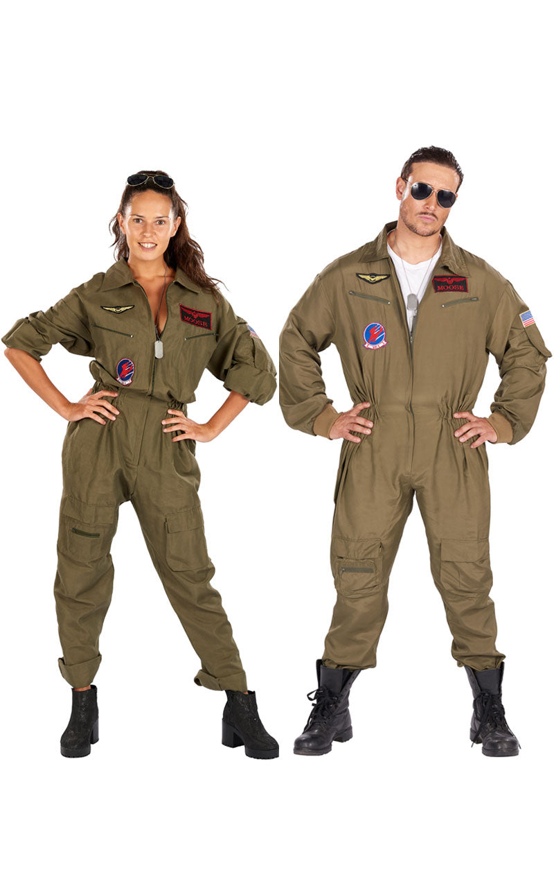 Adult Fighter Pilot Aviator Costume