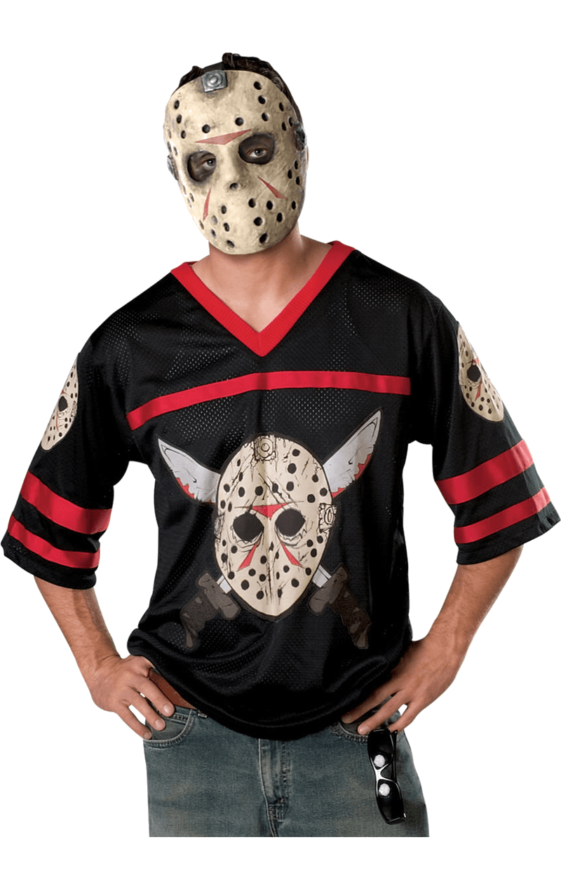 Jason Hockey Top & Facepiece Costume