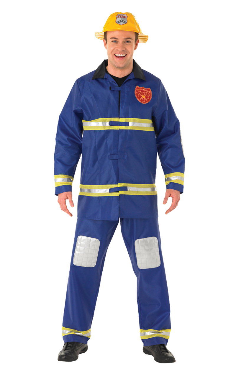 Mens Blue Fireman Costume