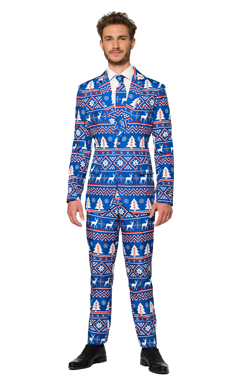 Mens Blue Christmas Suitmeister