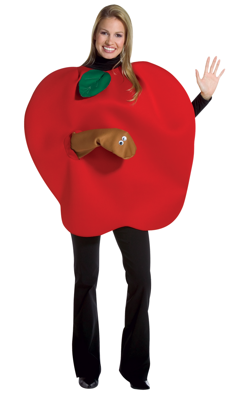 Apple with Worm Costume