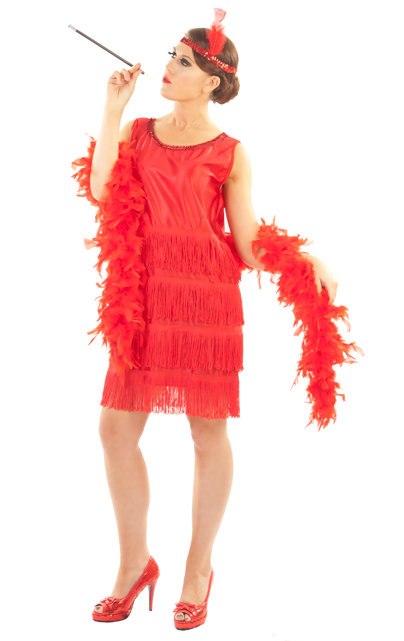 Roaring 20s Flapper Red Costume