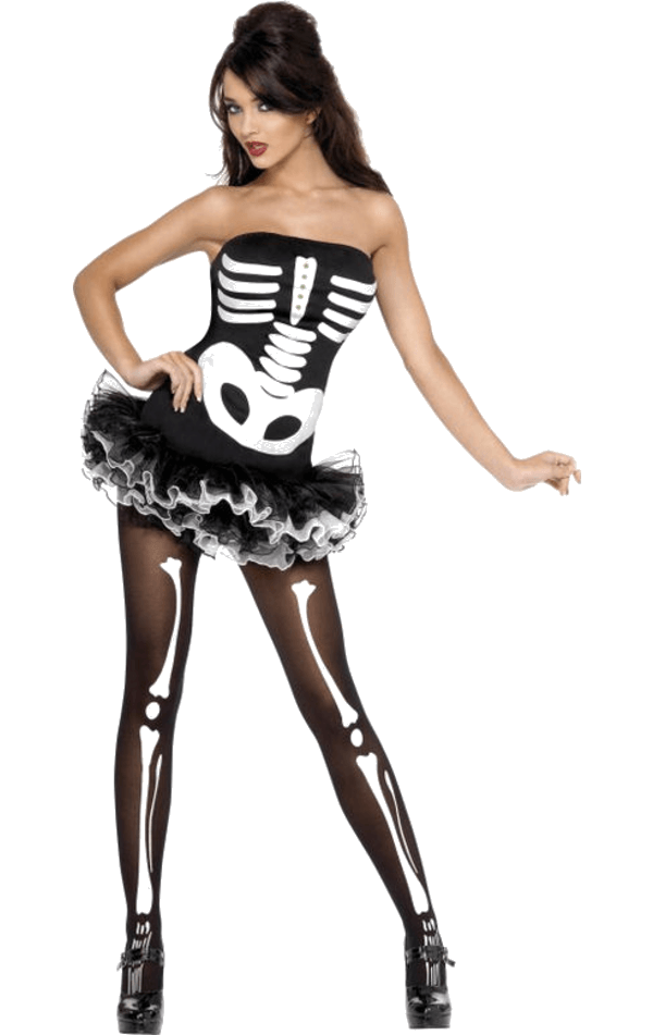 Skeleton Bones Tutu Costume