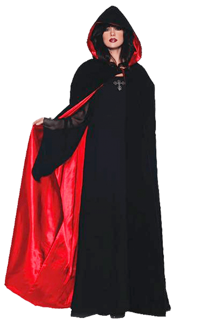 Velvet & Satin Red Gothic Cape