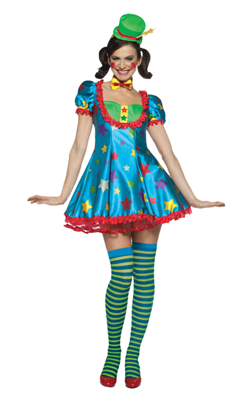 Female Star Clown Costume