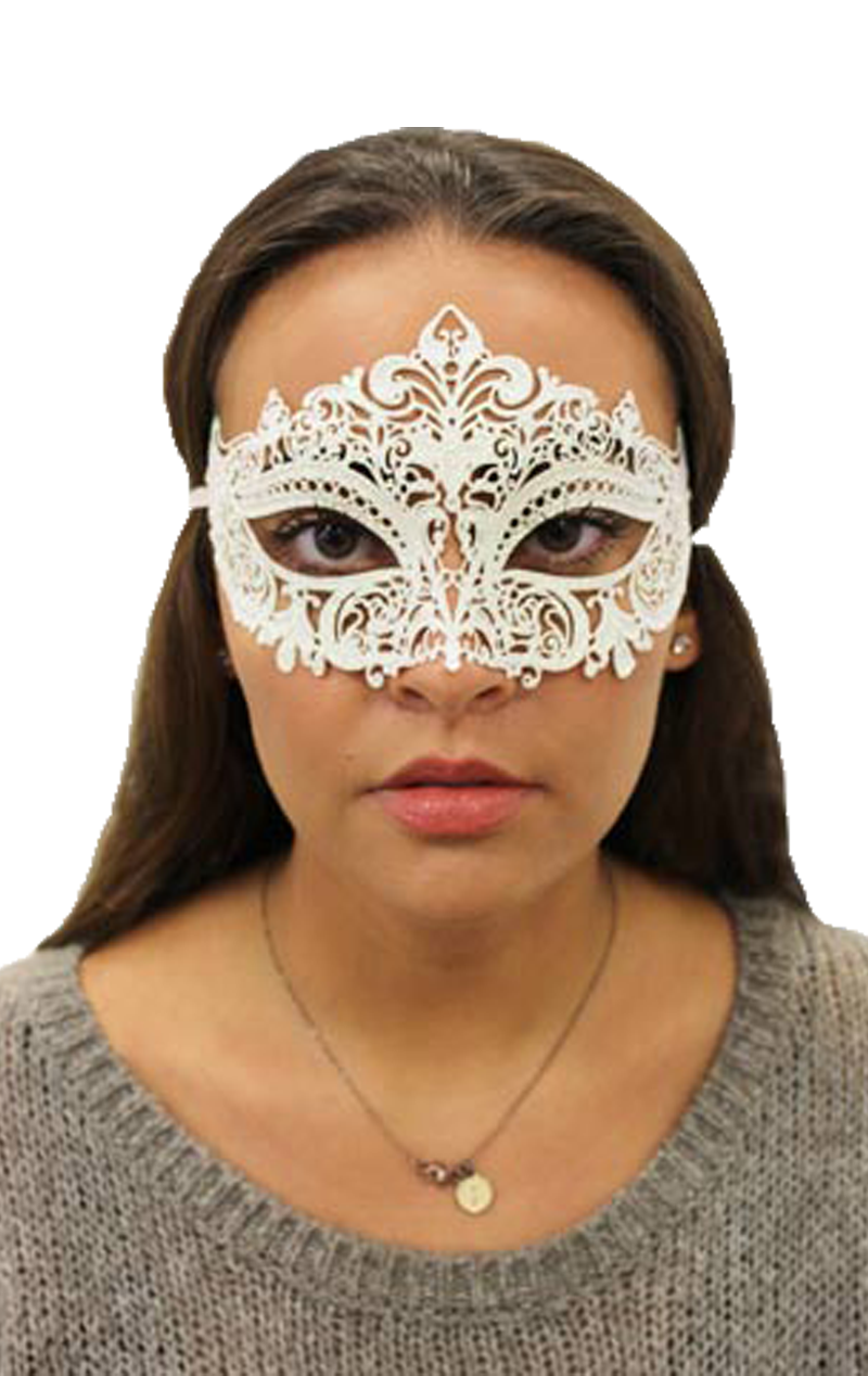 White Metal Masquerade Facepiece
