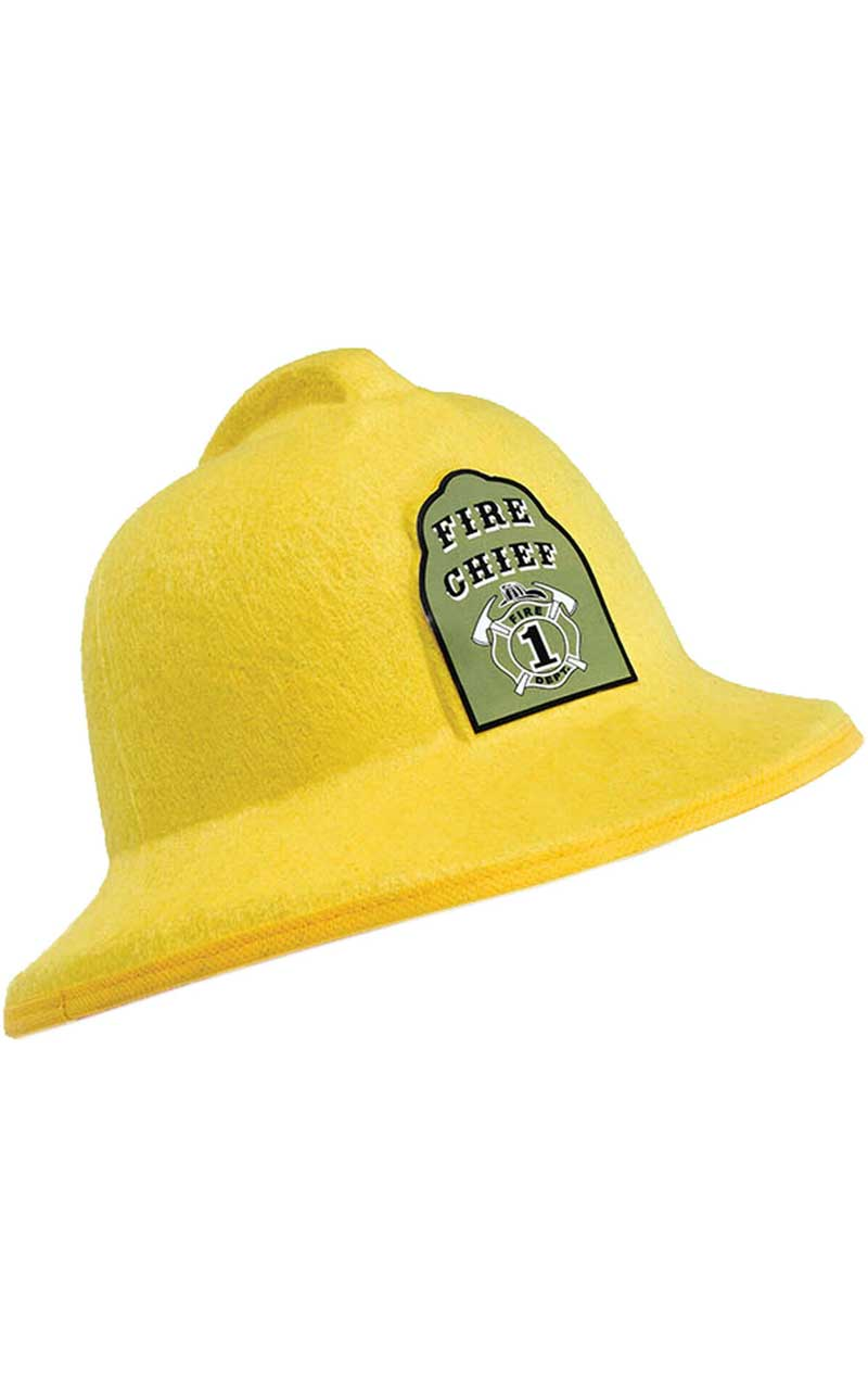 Adult Felt Fireman Hat - Fancydress.com