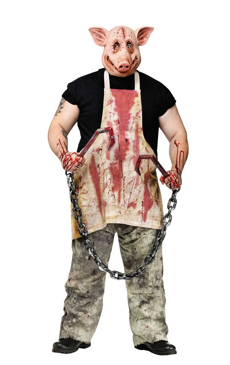 Horror Butcher Pig Costume - Fancydress.com