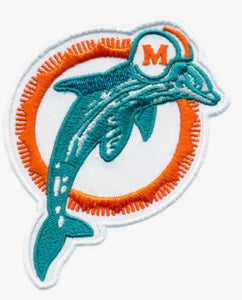 89' Dolphins Logo Sticker Patch