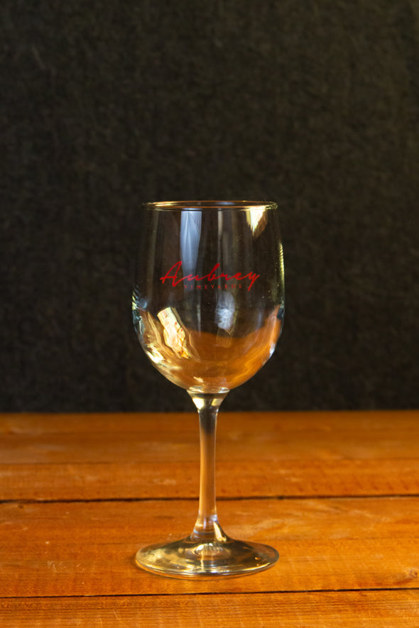 Aubrey Vineyards stemmed wine glass
