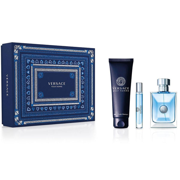Versace Pour Homme by Versace for Men 3.4 oz EDT 3 PC Gift Set