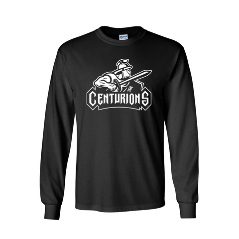 Centurions Logo Long Sleeve Black Tee