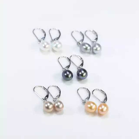 8-9 mm Clip Fashion Small Earring Natural Freshwater Pearl