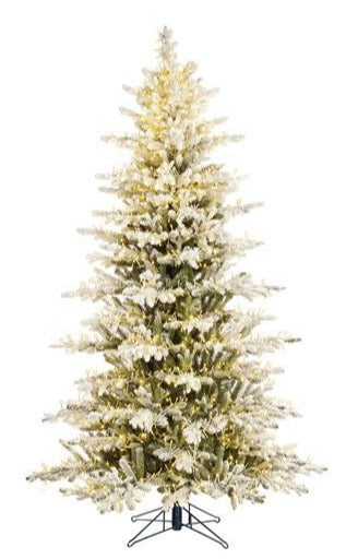Sapin artificiel - Montane Frosted LED - h230xd135cm
