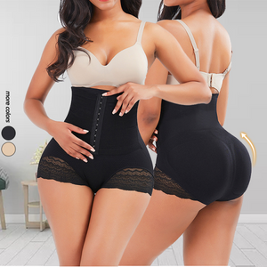 Black High Waist Lace Butt Enhancer Panty Ultra Sexy