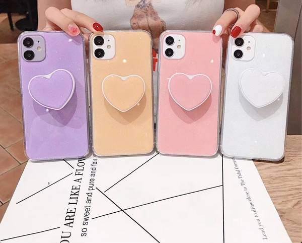 iPhone Case - Pastel Colored with Heart Socket
