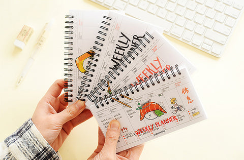 Cartoon Sushi Weekly Planner