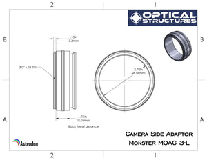 Accessories - Astrodon Camera-side 3″ Male Adapter