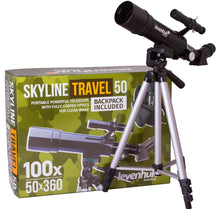 Load image into Gallery viewer, Levenhuk Skyline Travel 50 Telescope