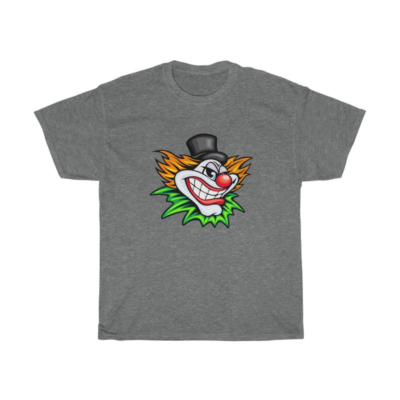 Halloween Design with Scary Clown Tshirts - Unisex Heavy Cotton Tee
