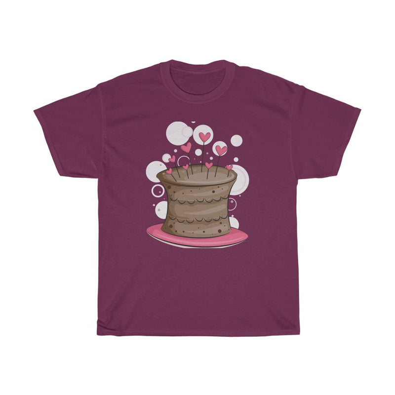 Baking & cooking pink Cake Design T shirt - Unisex Heavy Cotton Tee