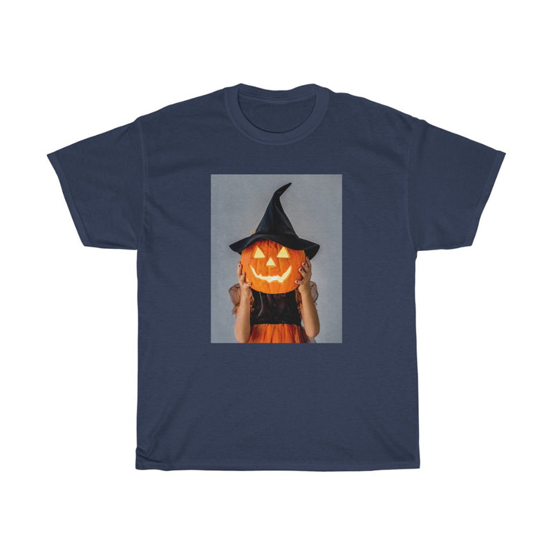 Halloween Baby with Scary Pumpkin Tshirts  - Unisex Heavy Cotton Tee