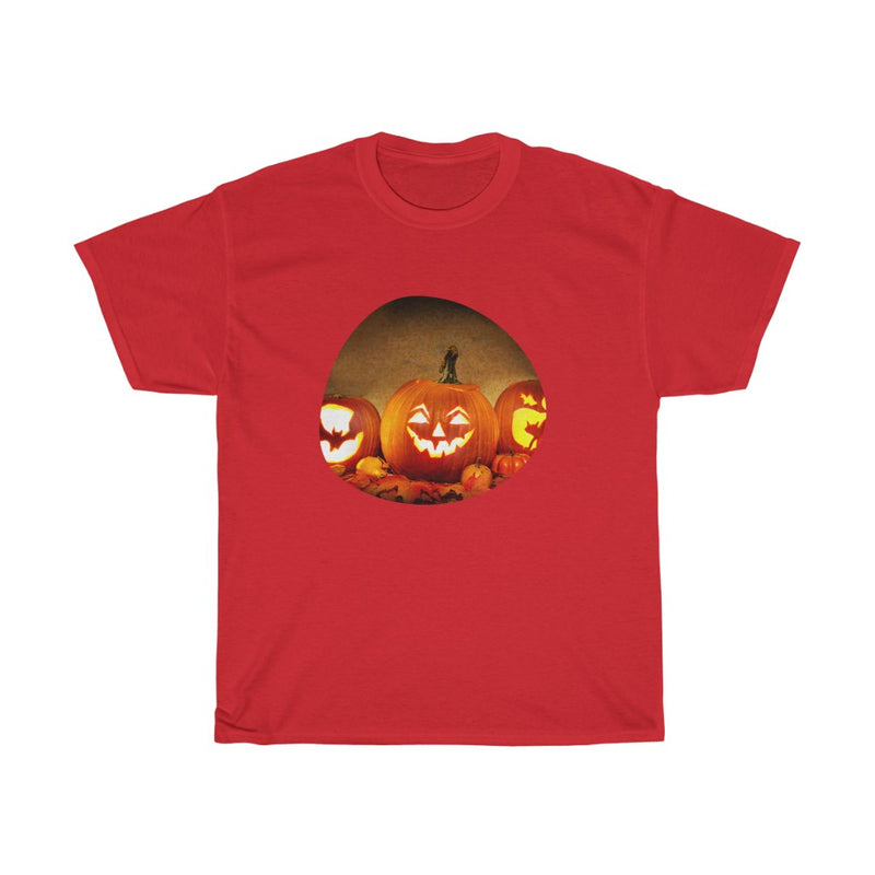 Halloween Design with Scary Pumpkin Tshirts -  Unisex Heavy Cotton Tee