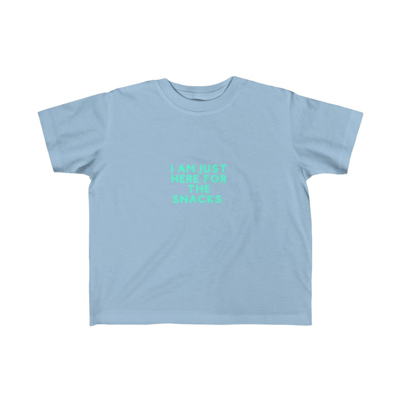 I am just here for the snacks Kid's Fine Jersey Tee