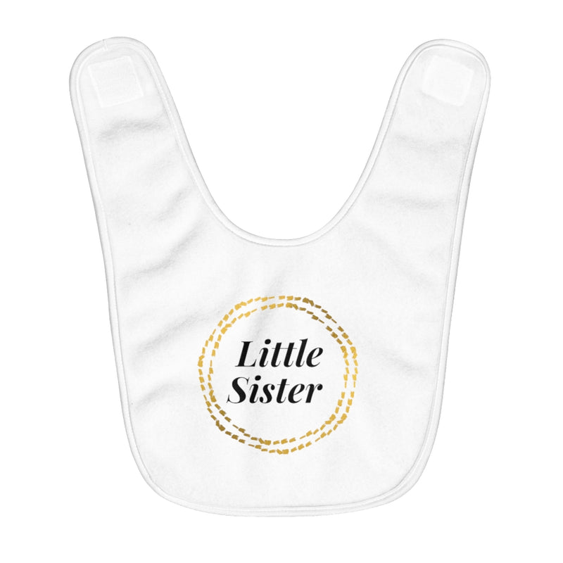 Little Sister Fleece Baby Bib