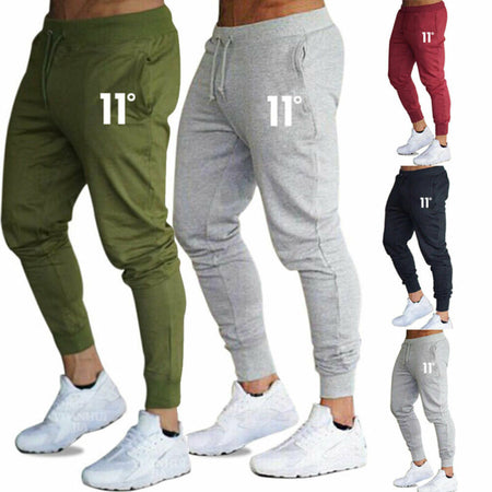 Jogger - Slim Fit Tracksuit Sports Solid Male Gym Cotton