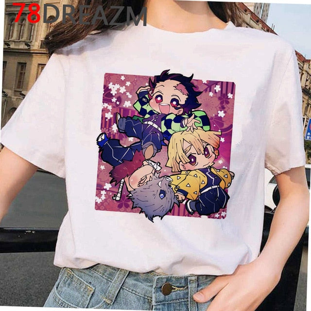 Top - Anime Demon Slayer T Shirt Women